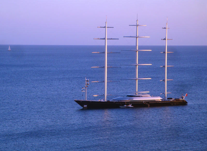 The mega-yachts of the very wealthy regularly moored in front of my balcony.