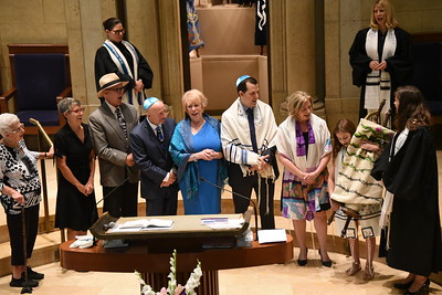 Josie- Gallery I of II at Temple Israel- service photos