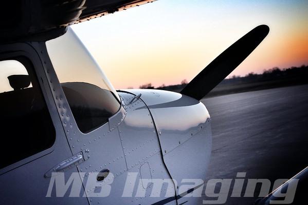 Cessna 172 SkyHawk Sunset