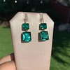 Georgian Double Drop Emerald Paste Earrings 15