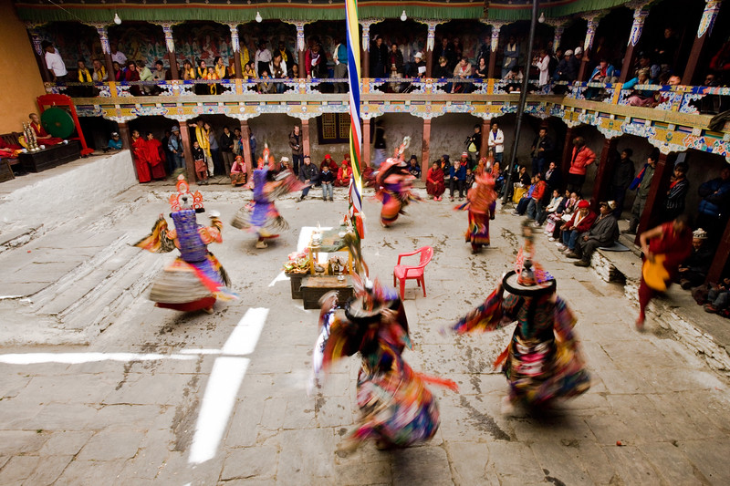 Ser Kyem dance at Chiwang Monastery during Mani Rimdu Festival.
