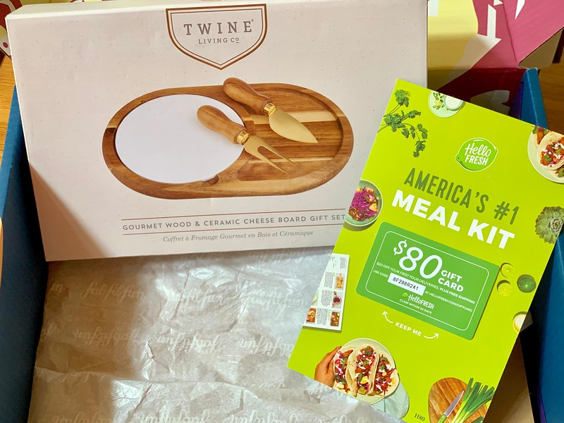 Twine Living Co: Gourmet Wood & Ceramic Cheese Board Gift Set