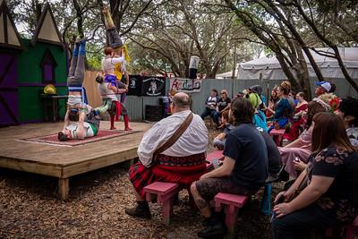 Acrobellum Perform for Festival Crowd