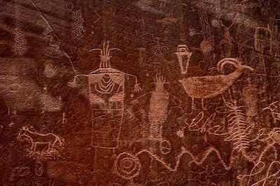 Cowboy petroglyph in Escalante canyon