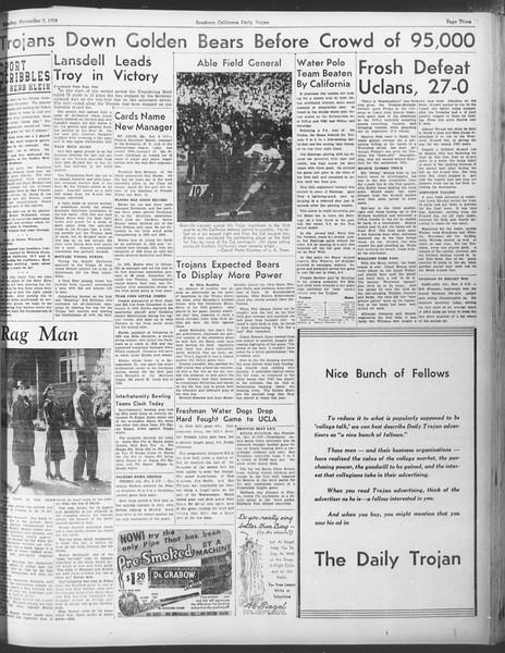 Daily Trojan, Vol. 30, No. 36, November 07, 1938