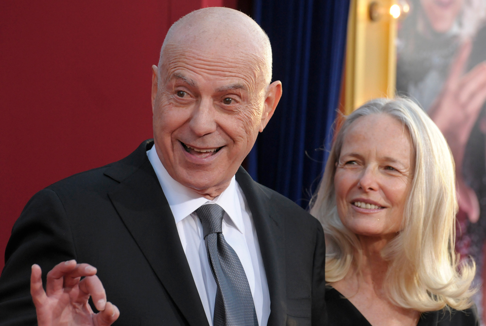 ". Actor Alan Arkin, left, and his wife, Suzanne Newlander Arkin arrive at the world premiere of the feature film ""The Incredible Burt Wonderstone\"" at the TCL Chinese Theatre on Monday, March 11, 2013 in Los Angeles. (Photo by Dan Steinberg/Invision/AP)"