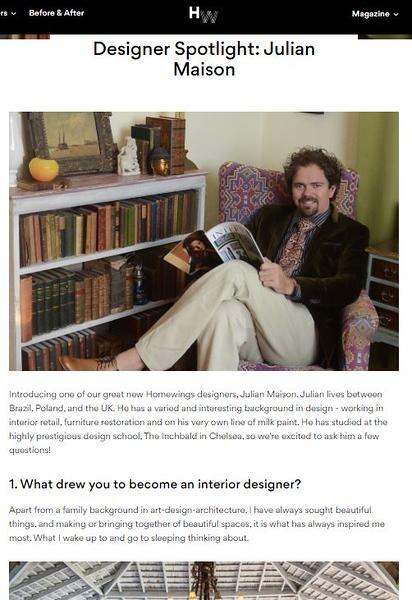 Homewings magazine spotlight Julian Maison