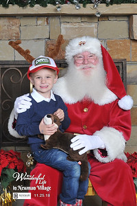 Santa Photos at Newman Village in Frisco