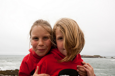 2009 Ocean, Overcast and Red Hoodies