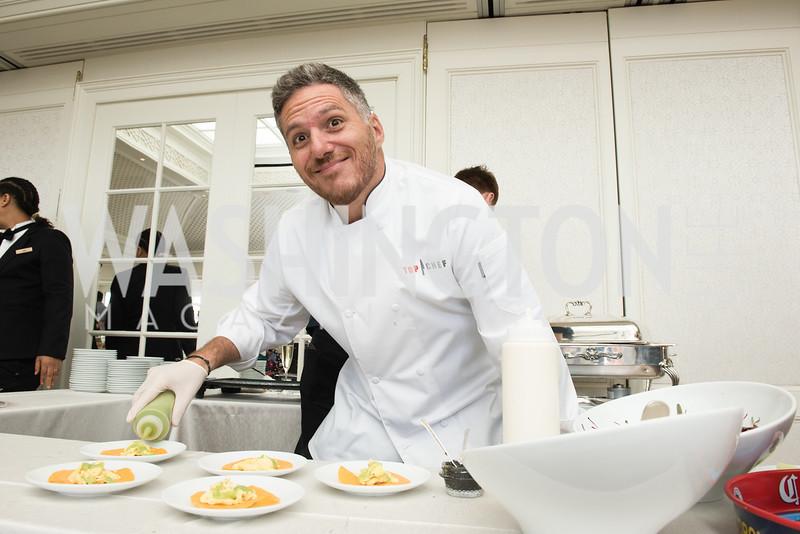Chef Spike Mendelsohn, WHCD Weekend, Thomson Reuters Brunch, Hay Adams, Apri 29, 2018. Photo by Ben Droz.