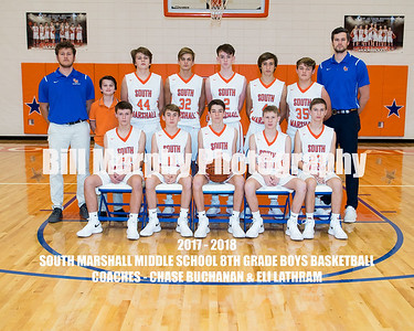 2017 - 2018 South Marshall Middle School 8th Grade Boys Basketball