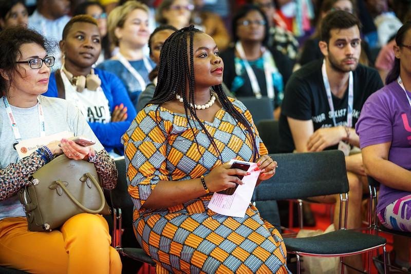 22nd International AIDS Conference (AIDS 2018) Amsterdam, Netherlands.   Copyright: Matthijs Immink/IAS  Global Village Opening  Photo shows: Ubongobassi Obot
