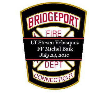 Bridgeport, CT Lt. Velesquez and FireFighter Baik