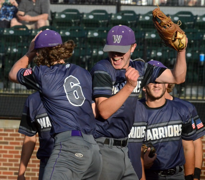 Woodhaven defeated Birmingham Brother Rice, 7-3, in Thursday's Division 1 baseball semifinal at Michigan State University. (Digital First Media photo gallery by Drew Ellis)