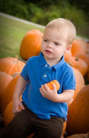 Pumpkin Patch Caleb & Micah