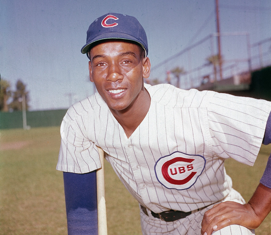 . FILE - In this 1970 file photo, Chicago Cubs\' Ernie Banks poses. The Cubs announced Friday night, Jan. 23, 2015, that Banks had died. The team did not provide any further details. Banks was 83. (AP Photo/File)