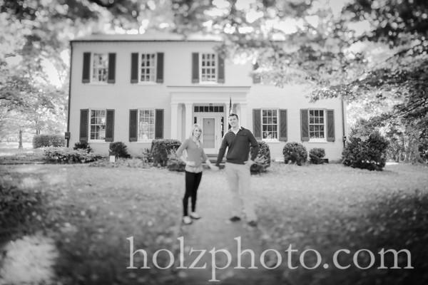 Amy & Jon B/W Engagement Photos
