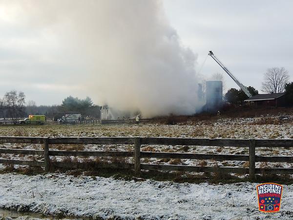 Barn fire on December 5, 2016