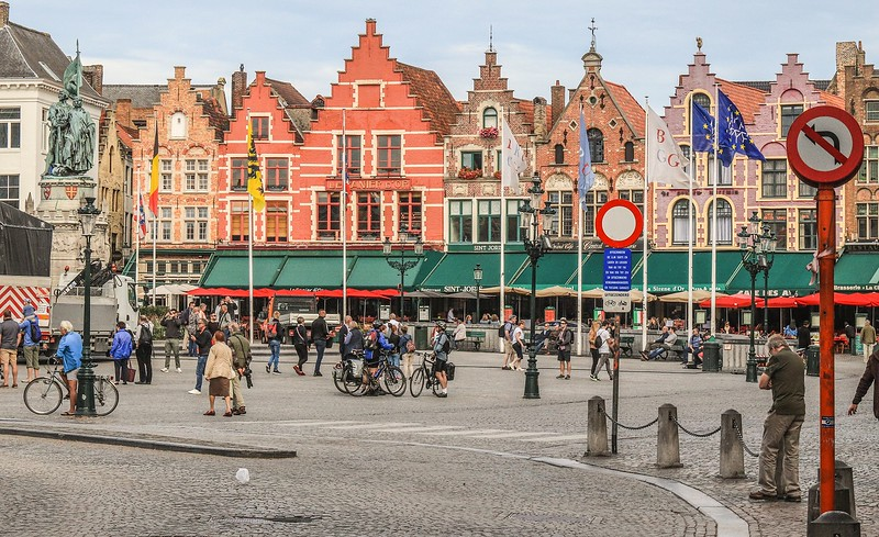 Markt Square in Bruges.
