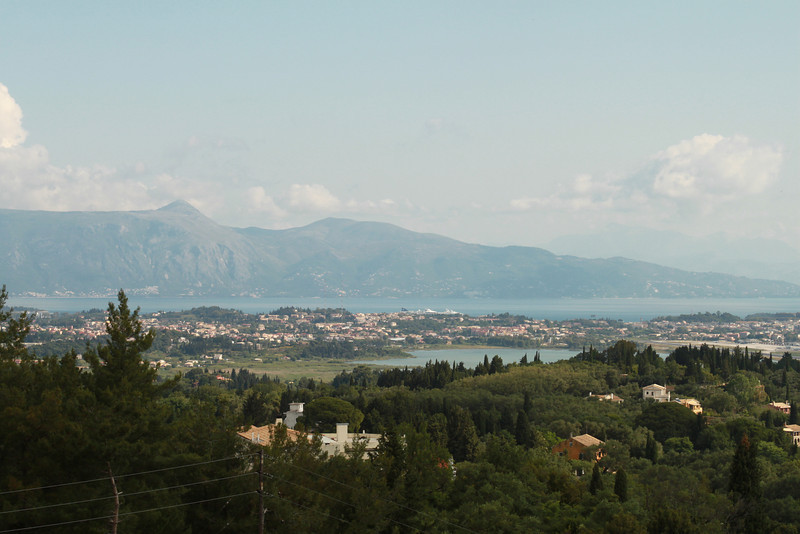 The view from the Achilleion Palace gardens.