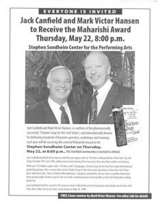 Maharishi Award Flyer