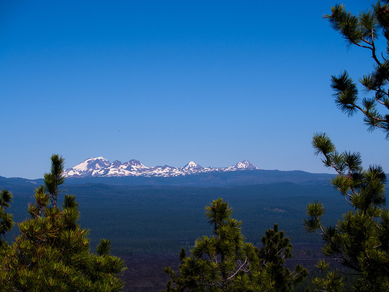 Three Sisters in the distance