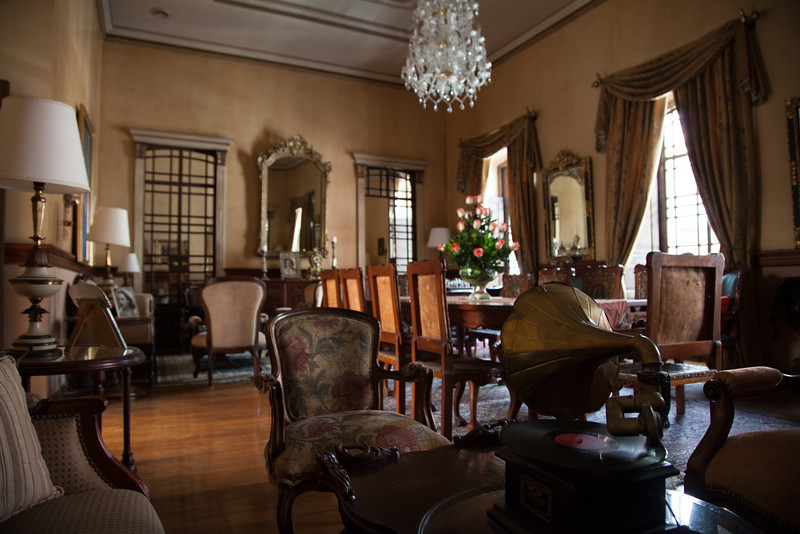 The upstairs of Mansion Alcazar had several beautifully decorated lounges.