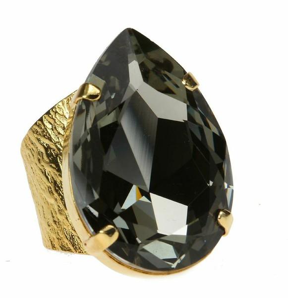 Perfect Drop Ring / Black Diamond