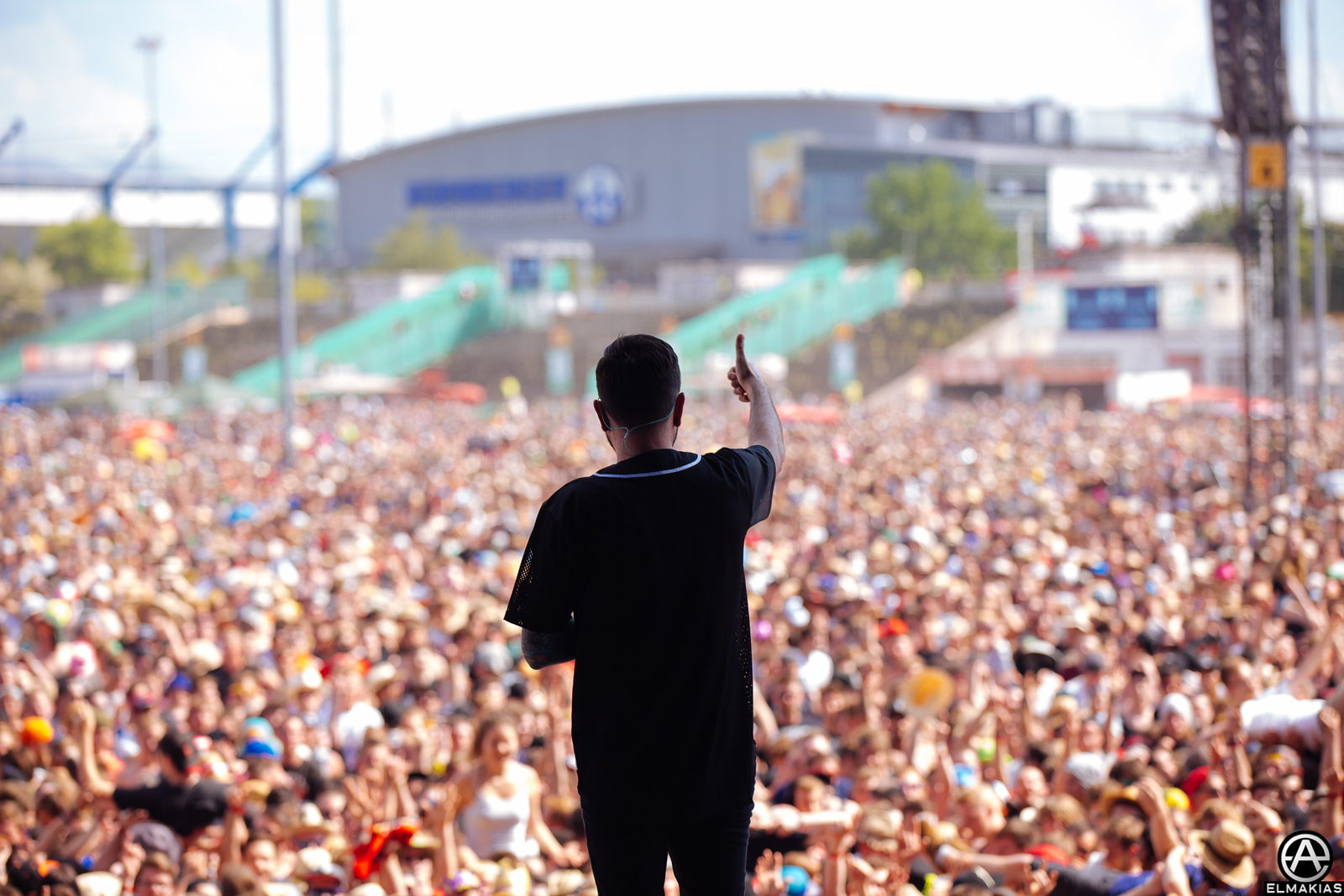 Jeremy McKinnon of A Day To Remember live at Rock IM Park 2015 - European Festivals