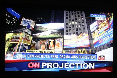 2012 Nov 6 Election Night President Obama Re-elected