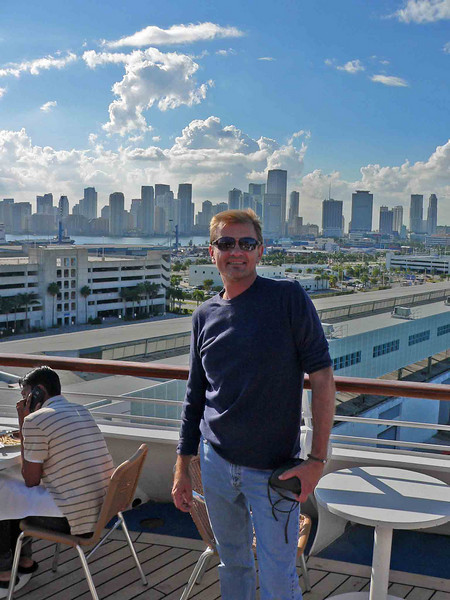 Doug in front of the city he works in!