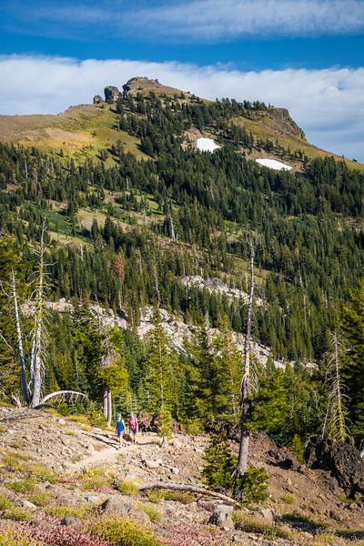 Hikers near Castle PEak
