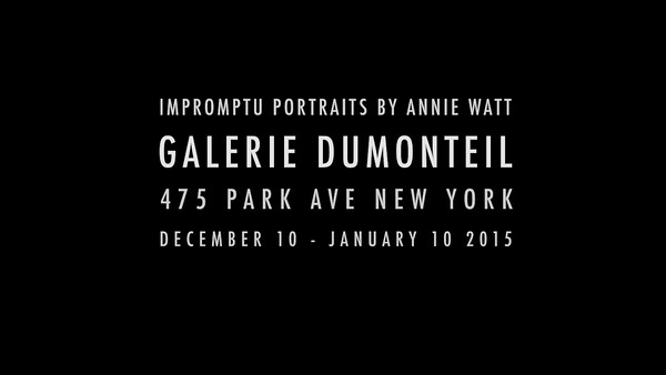VIDEO for Impromptu Portraits Opening Night Reception at the Galerie  Dumonteil
