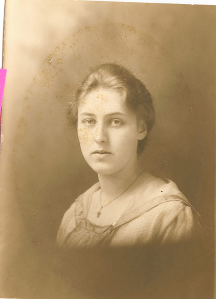 """Mary Lavinna Dew (1895-1992) Written in the Rogers Reunion Photo Album Volume III page 56 """"Mary Dew""""."""