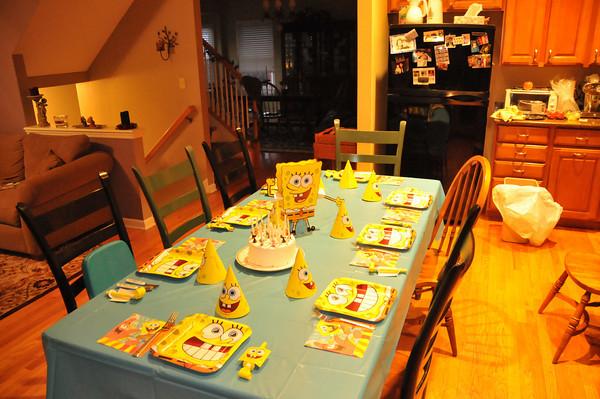Seans Sponge Bob Birthday