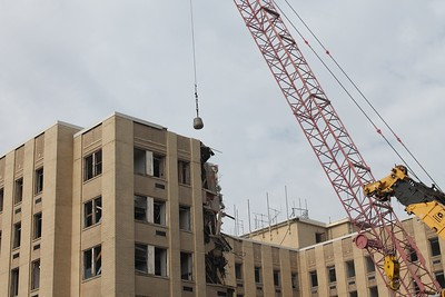 Montgomery Hospital wrecking ball
