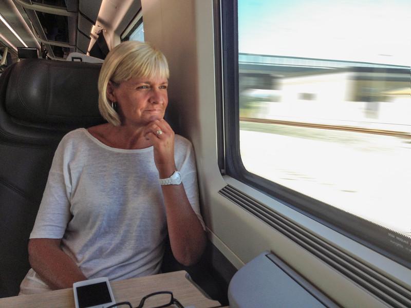 Jean on train