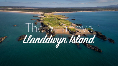 The air above: Llanddwyn Island