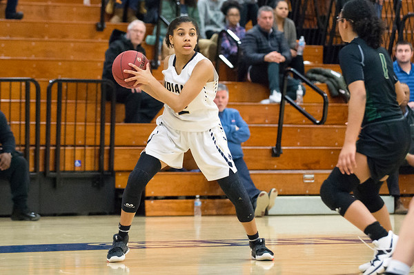 02/20/20 Wesley Bunnell | StaffrrNewington girls basketball defeated Enfield on thursday night at home in the first round of the conference tournament. Arianna Barnes (22).