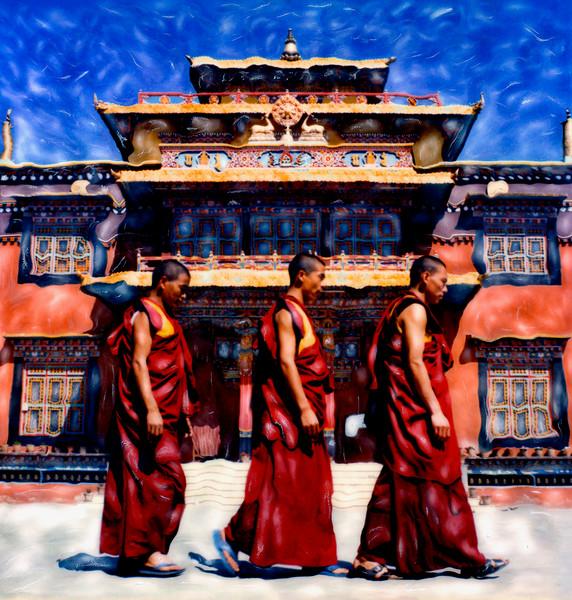 Tibetan Monks ~ Kathmandu, Nepal