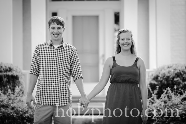 Ashley & Zach B/W Engagement Photos