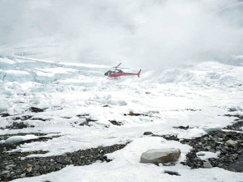 Helicopters were able to reach Lhotse Face bergschrund at 22,474ft or 6.850m.