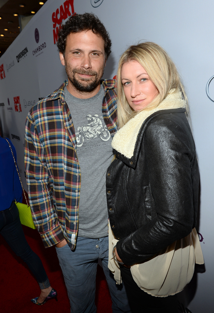 ". Actor Jeremy Sisto and wife Addie Lane arrive for the premiere of Dimension Films\' ""Scary Movie 5\"" at ArcLight Cinemas Cinerama Dome on April 11, 2013 in Hollywood, California.  (Photo by Michael Buckner/Getty Images)"