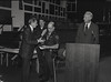 Mayor Hudnut at IPD Quarterly Awards, September 15, 1983, Img. 9, with Joseph McAtee