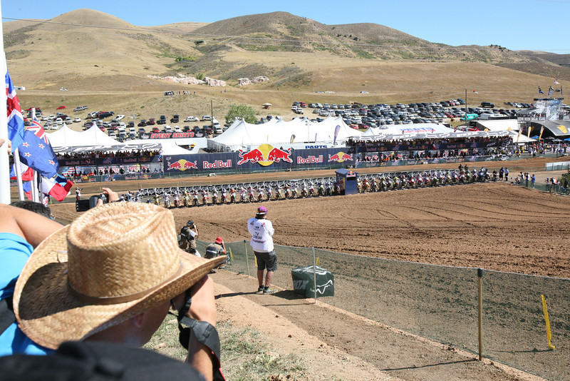 The gate ready to drop for the first moto