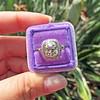2.85ct Antique Cushion Cut Diamond Halo Ring 54