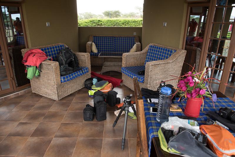 Reorganizing after the Kilimanjaro climb.
