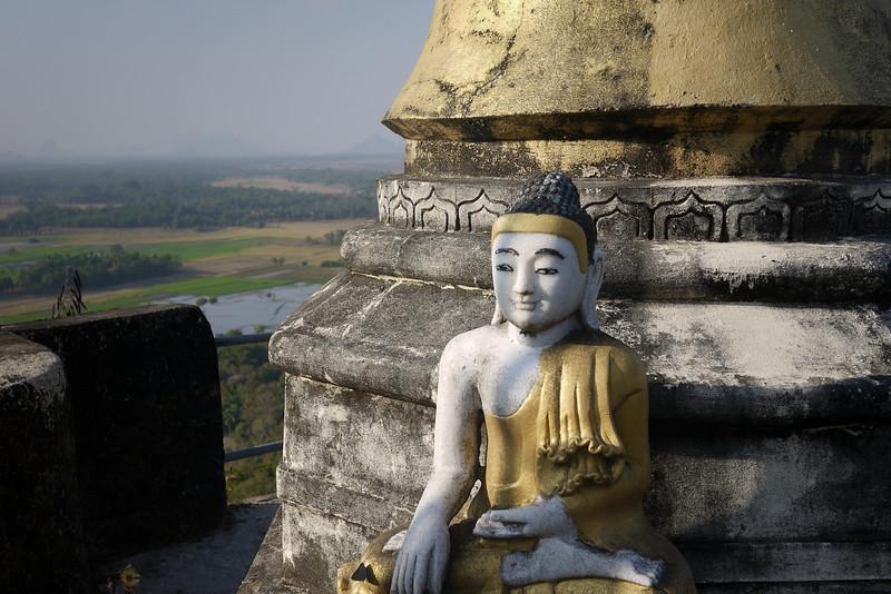 Buddha in an abandoned temple near Hpa-An, Burma.