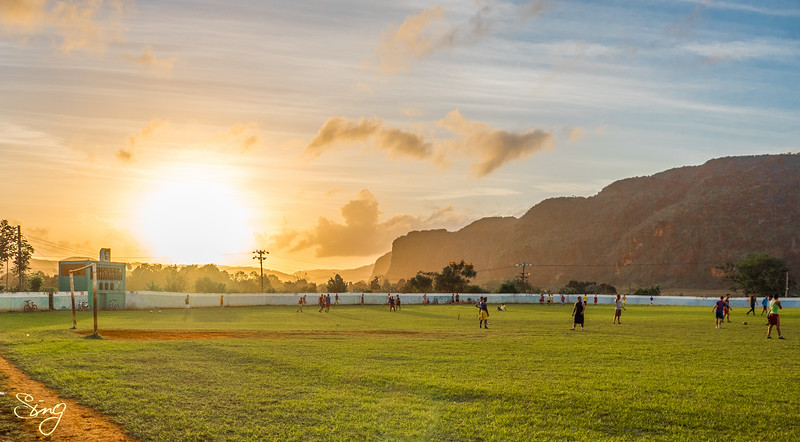 Exercising With A Sunset (4). Viñales, Cuba