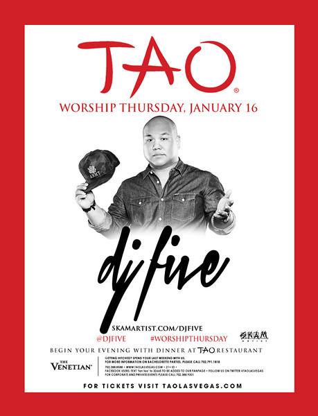 DJ Five @ Tao Nightclub 1.16.14